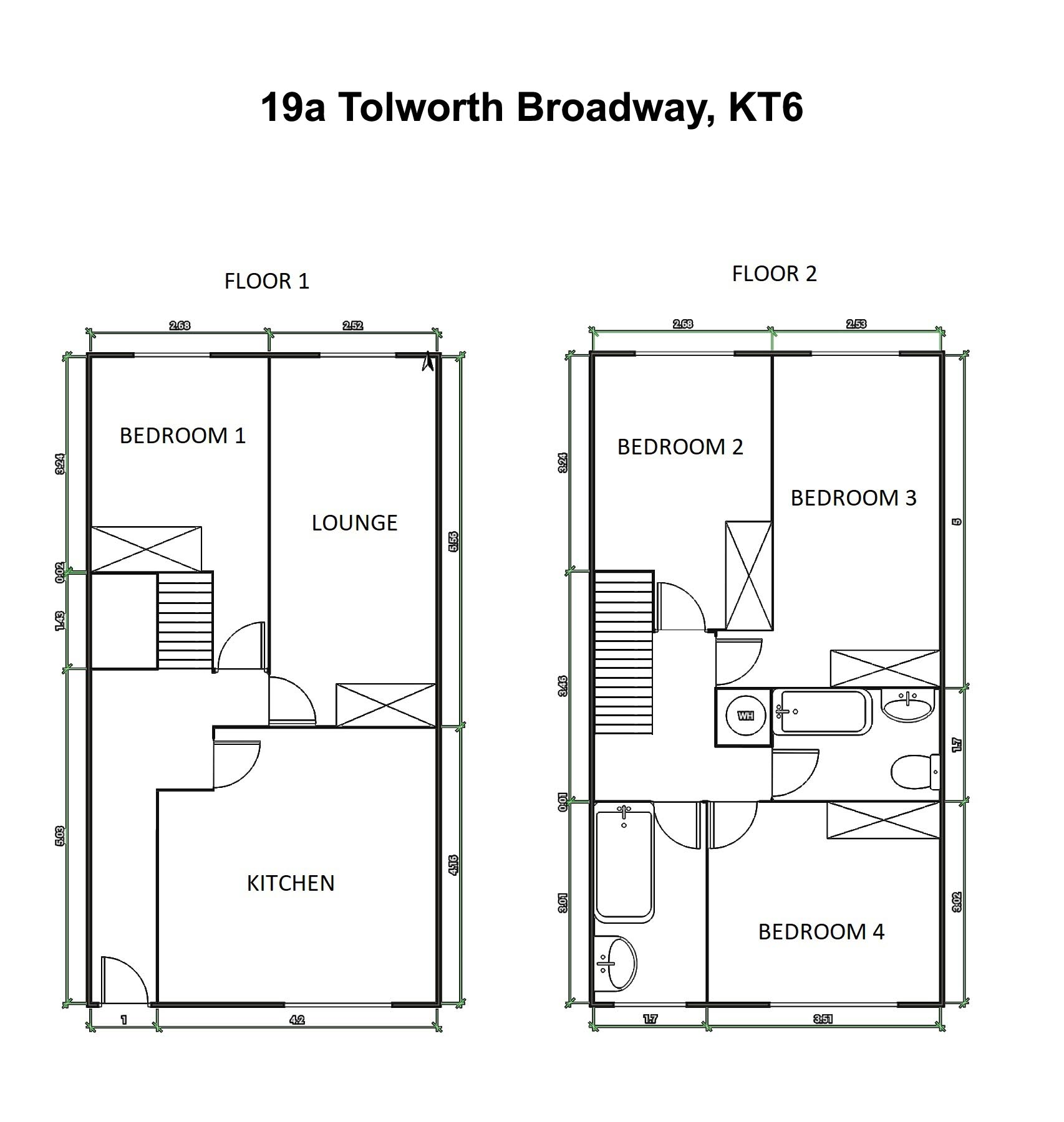 Tolworth Broadway 19a – Floor Plans