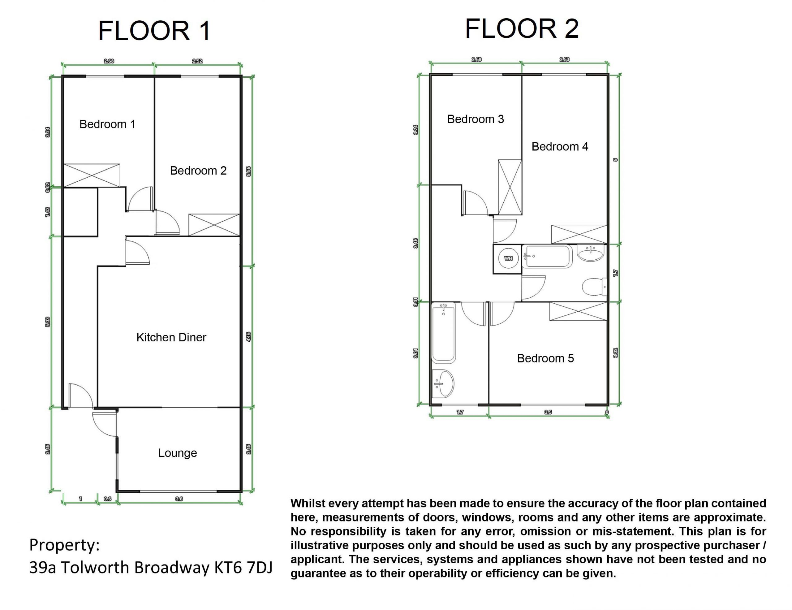 Tolworth Broadway 39a – Floor Plans